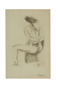 a nude study by jean fautrier