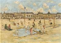 beach in ostend by albert rigaux
