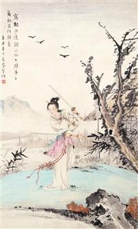 舞剑图 by jiang caiqin