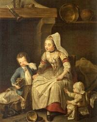 la mère russe et enfants by charles françois hutin