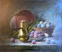 nature morte aux prunes by laurence