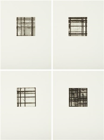 tiles portfolio set of 4 by brice marden