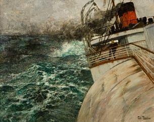 la transatlantique atlanterhavsdamperen by frits thaulow