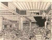 night attack from chushingura by toyoharu
