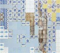 azulejaria de cozinha com peixes (kitchen tiles with fish) by adriana varejão
