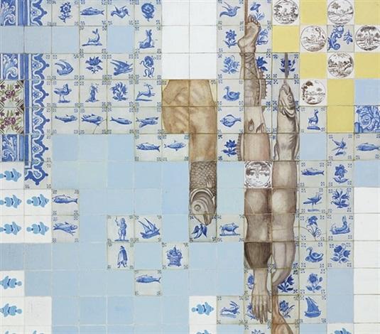 azulejaria de cozinha com peixes kitchen tiles with fish by adriana varejão