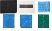 shu-chi/ kai-chi/ kaikei = 5/ compartire il podere - 10/ boundary of the depth 2/ paesaggio le paia - 104 (set of 6) by kishio suga