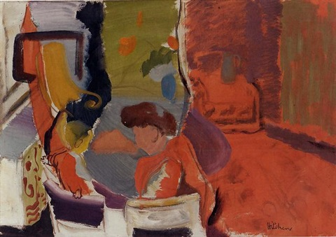 boy at breakfast by ivon hitchens