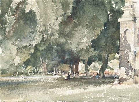 pavillion in the park at richelieu by william russell flint
