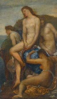 watching for the return of theseus by george frederick watts