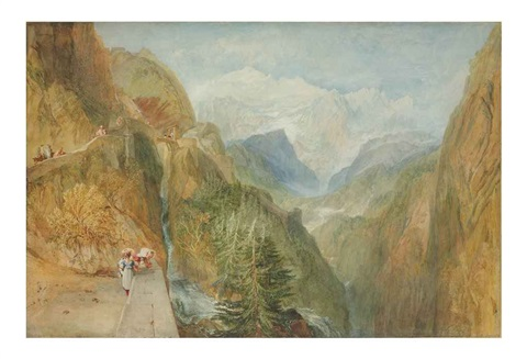 mont blanc from fort roch val daosta by joseph mallord william turner