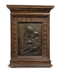 relief with the madonna and child by donatello