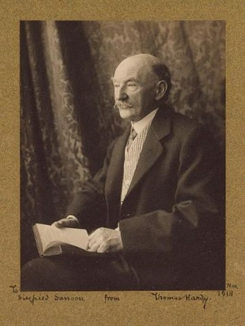 portrait of thomas hardy by olive edis galsworthy