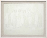 white abstract (royal family) by keith coventry