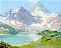 mt. assiniboine by carl clemens moritz rungius