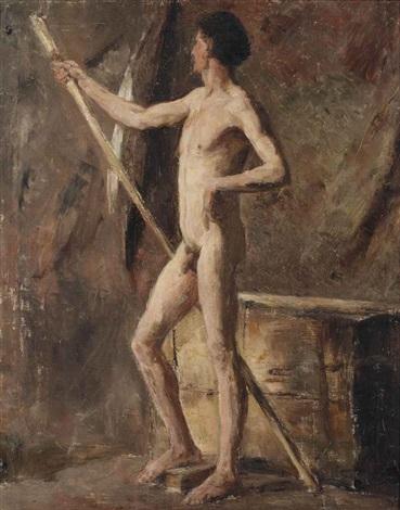 modèle homme au bâton by james ensor