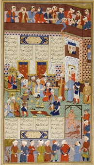firdausi's shahnameh: goruy-e zerah hanged by anonymous-persian-safavid (16)