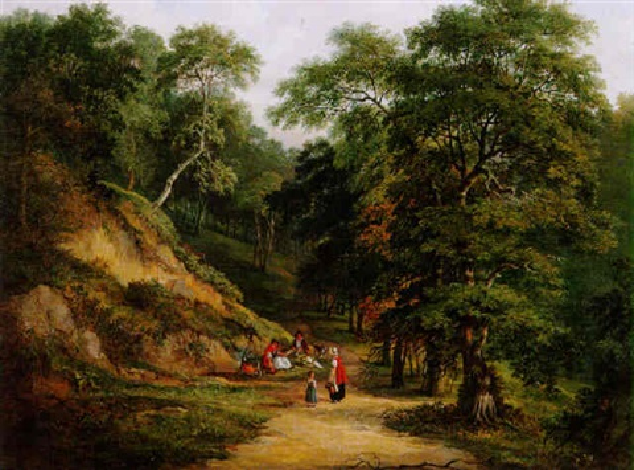 a woodland camp by jane nasmyth