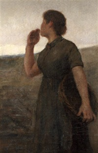 jeune femme au champ by ernst bruce haswell