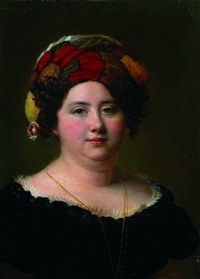 portrait de femme en buste by firmin massot