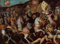 saint james the great at the battle of clavijo by michiel sittow