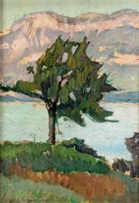 arbre au bord du lac by bessie ellen davidson