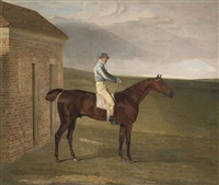 burleigh, a chestnut racehorse, with sam chifney, at newmarket by benjamin marshall