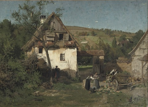 daily activities near a farm by wilhelm g hasemann