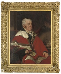 portrait of francis north, 4th earl of guilford, in academic robes by ramsay richard reinagle