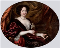 retrato de dama by pierre mignard the elder