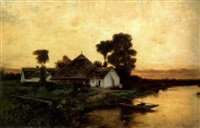 malom a folyóparton (mill on the riverside) by arthur (artur) tölgyessy