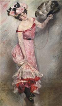 portrait of ellÿ by lovis corinth