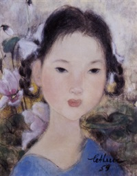 portrait of a young girl by le thi luu