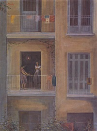 on the balcony by yiannis migadis