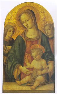 the madonna and child with two angels by master of san miniato