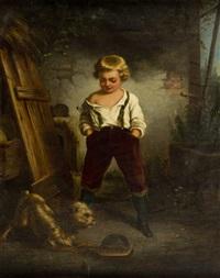chłopiec z pieskiem by leopold loeffler
