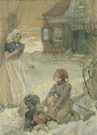 poor frightened gretel, she was not thinking of it (+ finding the lost treasure; 2 works) by george wharton edwards