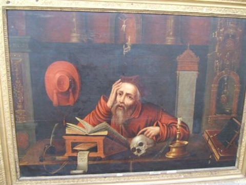 saint jérôme dans son cabinet by jan matsys massys