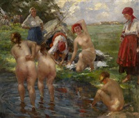 bathers by vitaly gavrilovich tikhov