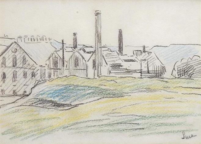 paysage industriel by maximilien luce