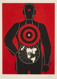 untitled (global target), from the target series by shepard fairey
