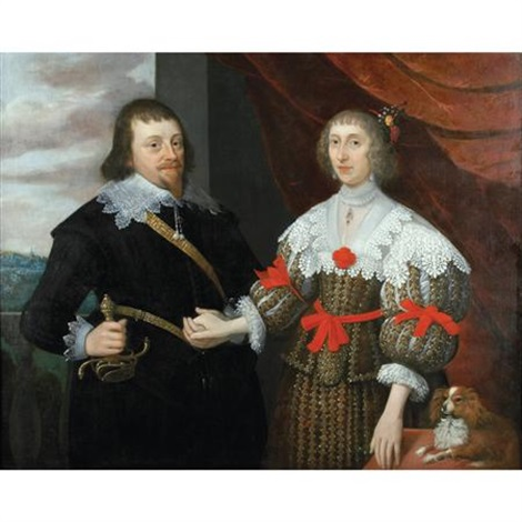 portrait of a husband and wife members of the selby lowndes family by gilbert jackson