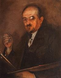 portretul pictorului gheorghe baba (tatăl pictorului corneliu baba) by corneliu baba