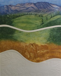 flinders ranges (triptych) by joy redman