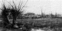 herding sheep, a hamlet beyond by alfred robert quinton