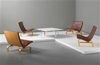 easy chairs, model no. pk 27 (set of 4) by poul kjaerholm