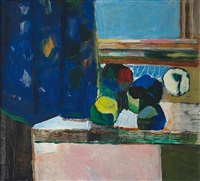 still life at the window by alois fisarek