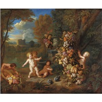 trionfo di frutta con putti by jan pauwel gillemans the younger