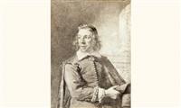 portrait de jan de paep, concierge à la bourse d'amsterdam by cornelis visscher