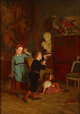 spelende kinderen by théophile emmanuel duverger
